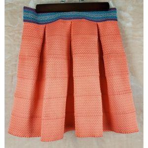 Dina be back zipper orange plank skirt
